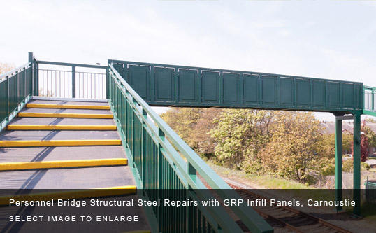 Personnel Bridge Structural Steel Repairs with GRP Infill Panels, Carnoustie