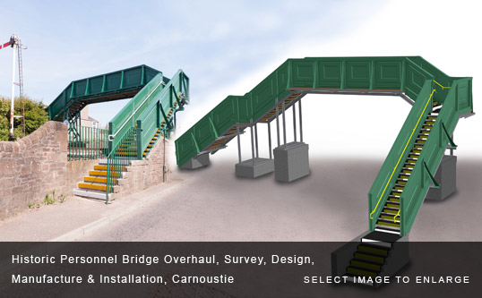 Historic Personnel Bridge Overhaul, Survey, Design, Manufacture & Installation, Carnoustie