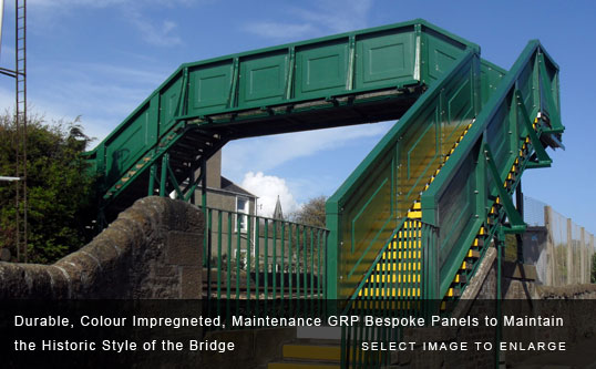 Durable, Colour Impregneted, Maintenance GRP Bespoke Panels to Maintain the Historic Style of the Bridge