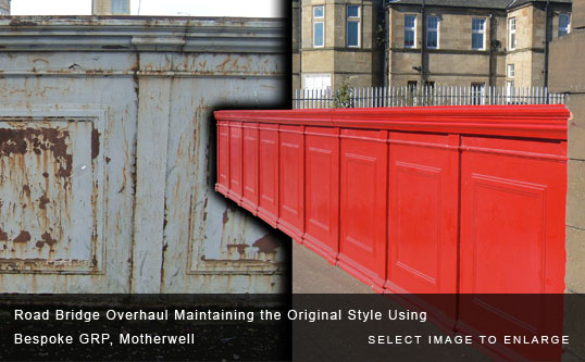 Road Bridge Overhaul Maintaining the Original Style Using Bespoke GRP, Motherwell