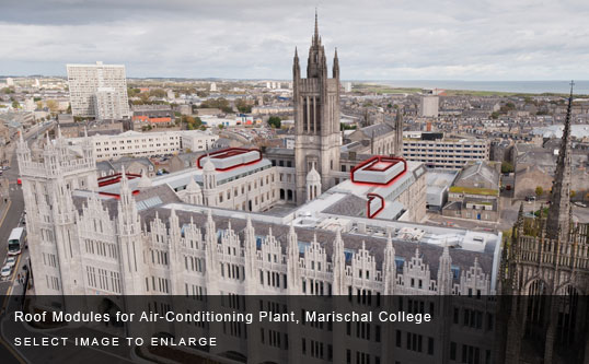 Roof Modules for Air-Conditioning Plant, Marischal College