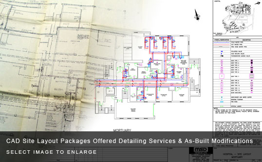 CAD Site Layout Packages Offered Detailing Services & As-Built Modifications