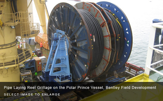 Pipe Laying Reel Grillage on the Polar Prince Vessel, Bentley Field Development