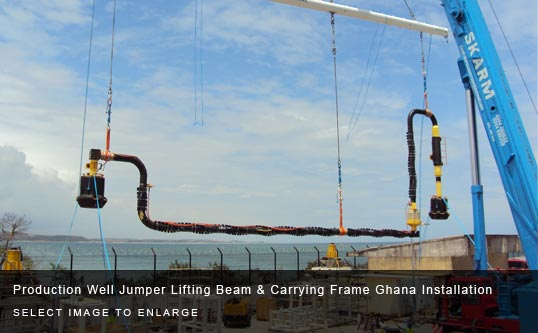 Production Well Jumper Lifting Beam & Carrying Frame Ghana Installation