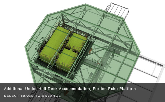 Additional Under Heli-Deck Accommodation, Forties Echo Platform