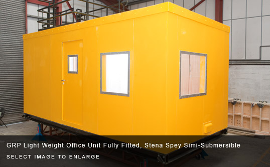GRP Light Weight Office Unit Fully Fitted, Stena Spey Simi-Submersible