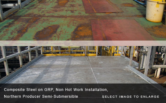 Composite Steel on GRP, Non Hot Work Installation, Northern Producer Semi-Submersible