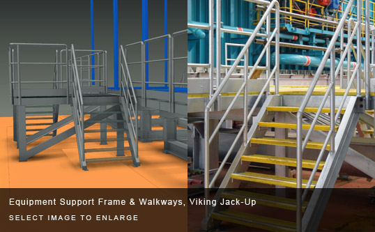 Equipment Support Frame & Walkways, Viking Jack-Up