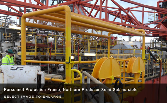 Personnel Protection Frame, Northern Producer Semi-Submersible