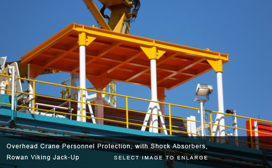 Overhead Crane Personnel Protection, with Shock Absorbers, Rowan Viking Jack-Up