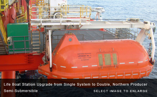 Life Boat Station Upgrade from Single System to Double, Northern Producer Semi-Submersible