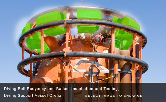 Diving Bell Buoyancy and Ballast Installation and Testing, Diving Support Vessel Orelia