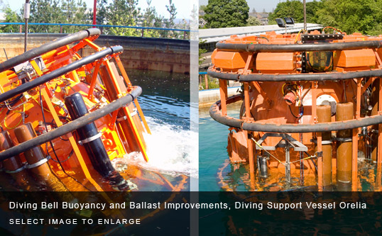 Diving Bell Buoyancy and Ballast Improvements, Diving Support Vessel Orelia