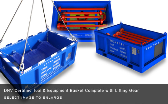 DNV Certified Tool & Equipment Basket Complete with Lifting Gear
