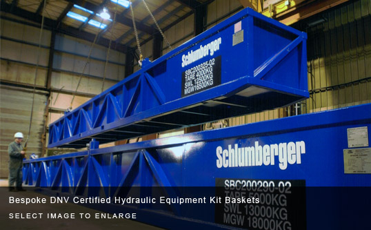 Bespoke DNV Certified Hydraulic Equipment Kit Baskets