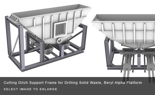 Cutting Ditch Support Frame for Drilling Solid Waste, Beryl Alpha Platform
